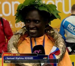 Vítaz: Kosgei Samuel Kiplimo