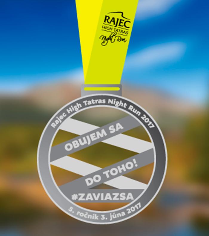 Rajec High Tatras Night Run medaila