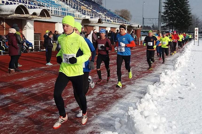 Silvestrovský beh na tartane 2017