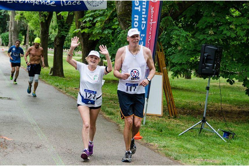 Soňa Macejíkova a Milan Roskopf počas Self-Transcendence 6/12h a 100km beh Nitra