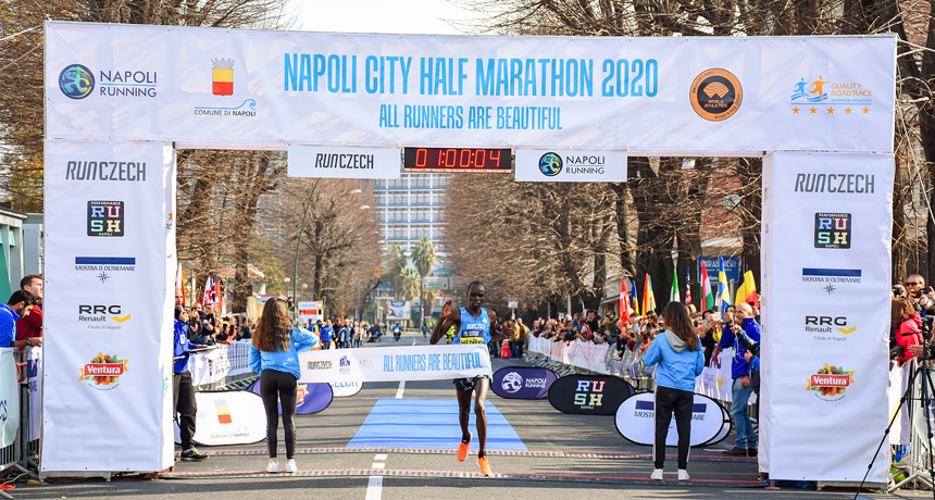 Man winner Napoli Half Marathon 2020