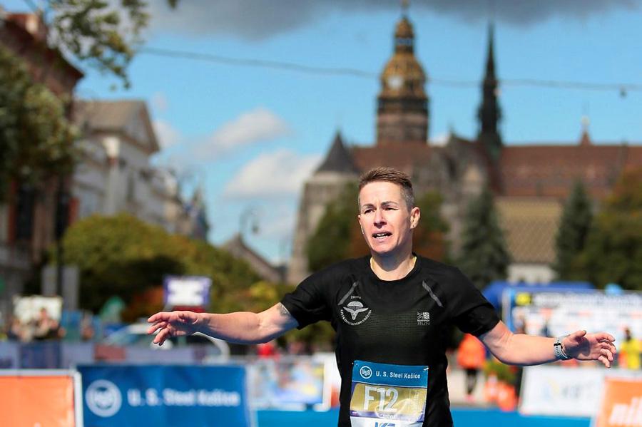 najrýchlejšia Slovenka v cieli Sylvia Sebestian