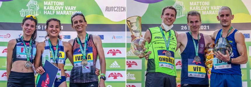 Mattoni Half Maraton Karlovy Vary 2021 víťazi